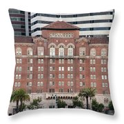 Embarcadero Ymca Building In San Francisco, California Throw Pillow