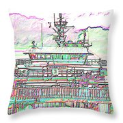 Embarking Throw Pillow