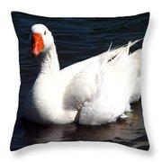 Embden Goose 2 Throw Pillow