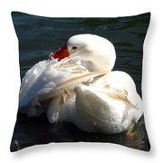 Embden Goose 4 Throw Pillow