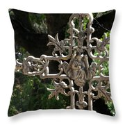 Embellished Cross Throw Pillow