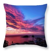Ember Sunrise Throw Pillow