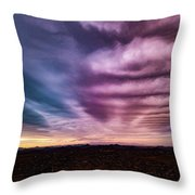 Embers Of A Fading Sunset Throw Pillow