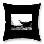 Embossed Roosters Throw Pillow