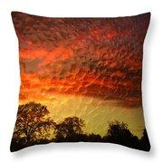 Embossed Sunrise Throw Pillow