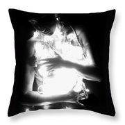 Embracing Light - Self Portrait Throw Pillow