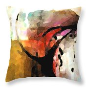 Embracing Secrets Panel One Of Two Throw Pillow
