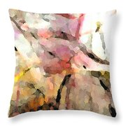 Embracing Secrets Panel Two Of Two Throw Pillow