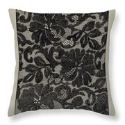 Embroidered Lace Throw Pillow