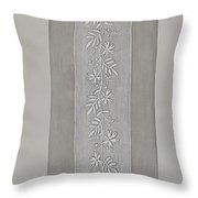 Embroidered Panel For Sleeve Throw Pillow