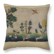 Embroidered Petticoat Border Throw Pillow