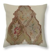 Embroidered Table Scarf Throw Pillow