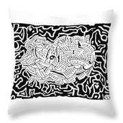 Embryonic Throw Pillow