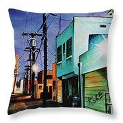 Emerald Alley Throw Pillow
