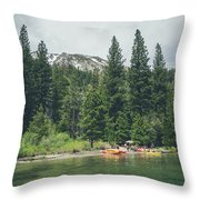 Emerald Bay Throw Pillow by Margaret Pitcher