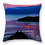 Emerald Bay Sunrise Portrait Throw Pillow