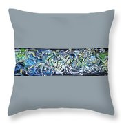 Emerald Chasms Throw Pillow