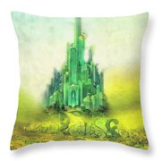 Emerald City Throw Pillow by Mo T