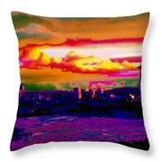 Emerald City Sunset Throw Pillow