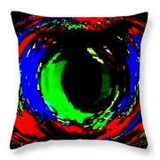 Emerald Eye Throw Pillow