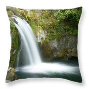 Emerald Falls Throw Pillow