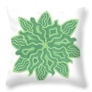 Emerald Flower Throw Pillow