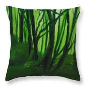 Emerald Forest. Throw Pillow by Cynthia Adams