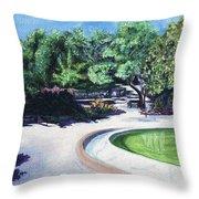 Emerald Fountain Throw Pillow