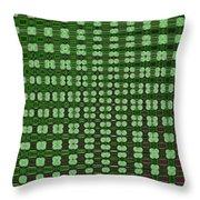 Emerald Green And Oak Stump Abstract Throw Pillow