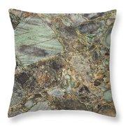 Emerald Green Granite Throw Pillow