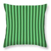 Emerald Green Striped Pattern Design Throw Pillow