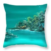 Emerald Isle 2 Throw Pillow