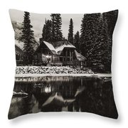 Emerald Lake, Canada Throw Pillow