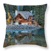 Emerald Lake Cilantro Throw Pillow