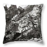 Emerald Lake Colorado Throw Pillow