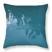 Emerald Lake Glacier Waters Throw Pillow