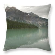Emerald Lake Throw Pillow by Kenneth Hadlock