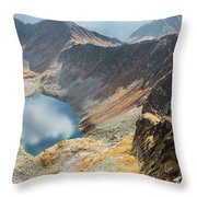 Emerald Lake Surrounded By Tatra Mountains, Poland Throw Pillow