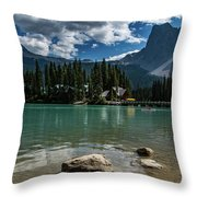 Emerald Lake Throw Pillow