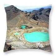 Emerald Lakes, New Zealand. Throw Pillow