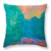 Emerald Mist Throw Pillow