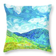 Emerald Moments Throw Pillow