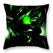 Emerald Nigthmares Abstract Throw Pillow