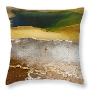 Emerald Pool - Yellowstone National Park Throw Pillow