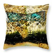 Emerald Ripples Throw Pillow