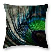 Emerald Shadows Throw Pillow