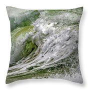 Emerald Storm Throw Pillow