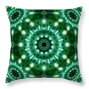 Emerald  Throw Pillow