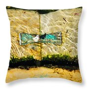 Emerald Tide Throw Pillow