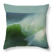 Emerald Waters Throw Pillow